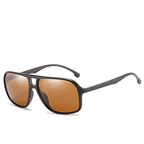 ZEMENG Gafas de Sol de Ciclismo, Hombres Mujeres Polarizadas Gafas de Sol, Conducción al Aire Libre Espejo Clásico Gafas de Sol, Ciclismo Reading Gafas Unisex, Protección UV400,C