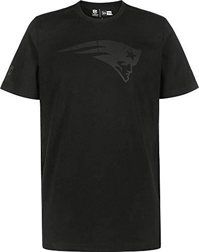 A NEW ERA NFL Tonal Black Logo Tee Neepat T-Shirt für Herren S schwarz