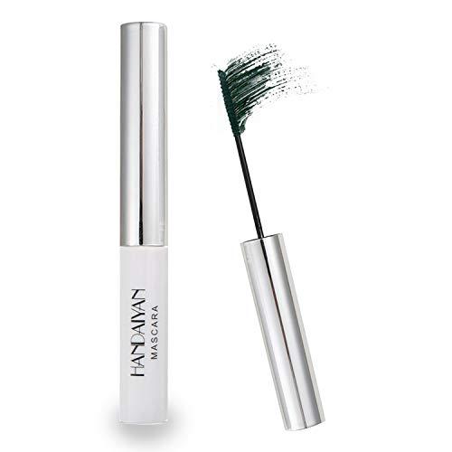 GL-Turelifes 12 Color Mascara Bunte Fasermascara Charmante, langlebige Mascara mit dicken und langen Wimpern, wasserdicht und wischfest (Grün)