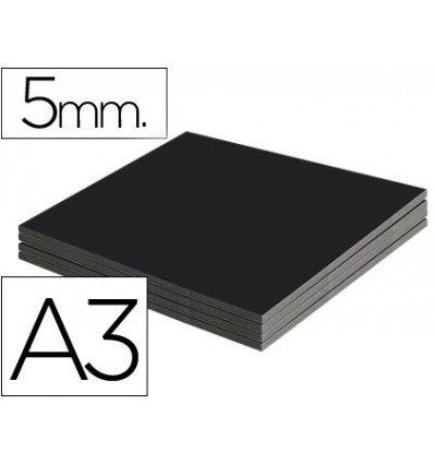 Liderpapel - Carton pluma negro doble cara din a3 espesor 5 mm (10 unidades)