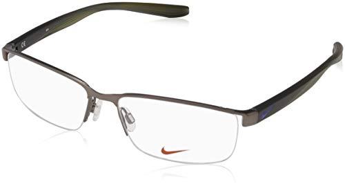 Nike Herren 8172 068 56 Brillengestelle, Grau (Satin Gunmetal)