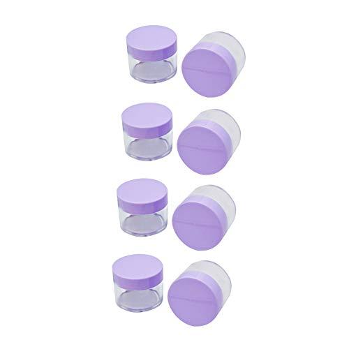 8 Pcs 15ml Clear Round antifuite Récipient en plastique avec couvercle pour le stockage Voyage maquillage Lotion Jar Crèmes Salves Bouteille de couleur aléatoire