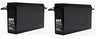 NPP FT12-155Ah Front Access Deep Cycle Solar Energy Power 12V 155 Ah Telecom UPS Battery with Button Style Terminals (2 Pack)