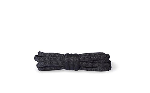 Kaps Oval Schnürsenkel für Sport und Turnschuhe, extrem langlebig, hergestellt in Europa, 1 Paar, in schwarz oder weiß, viele Längen (120 cm - 6 to 8 Ösenpaare),schwarz