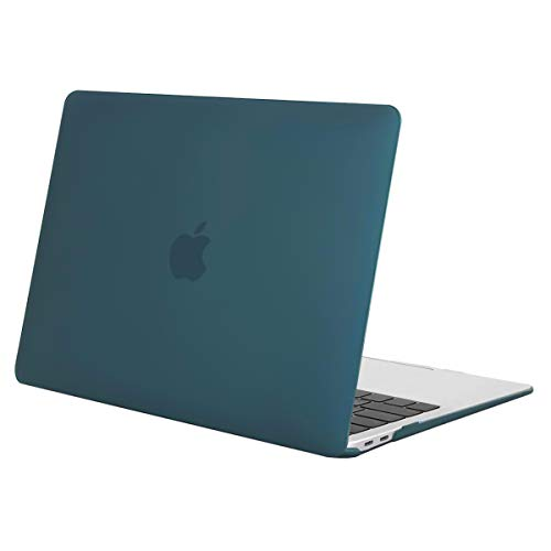 MOSISO Hülle Kompatibel mit 2020 2019 2018 MacBook Air 13 A2337 M1 A2179 A1932 Retina Display, Plastik Hartschale Case Cover Nur Kompatibel mit MacBook Air 13 Zoll mit Touch ID, Deep Teal