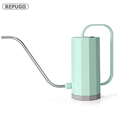 REPUGO Plant Watering Can, Watering Can, Plastic Watering Can with Long Spout, Candy Color Watering Pot, 1.2L/40 oz Small Watering Can for Outdoor Indoor House Garden Plants (Green)