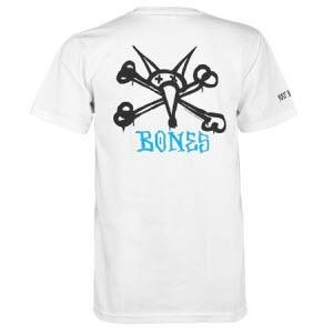 パウエル POWELL スケボー Tシャツ Powell Peralta Rat Bones T-Shirtホワイト No44 L