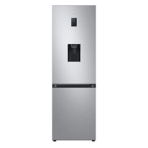 Samsung RB34T652ESA/EU Freestanding Fridge Freezer with non plumbed water dispenser, Frost Free, 331L capacity, 60cm wide, Silver