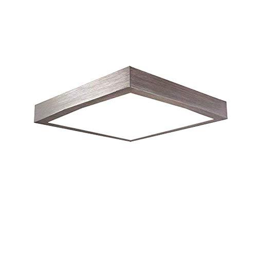 Froadp 16W LED Panel Quadrat Warmweiß Moderne Deckenlampe Wandlampe Energiespar Deckenleuchte für Wohnzimmer Korridor Bad und Decke Schlafzimmer Silber Küche Licht [Energieklasse A++]