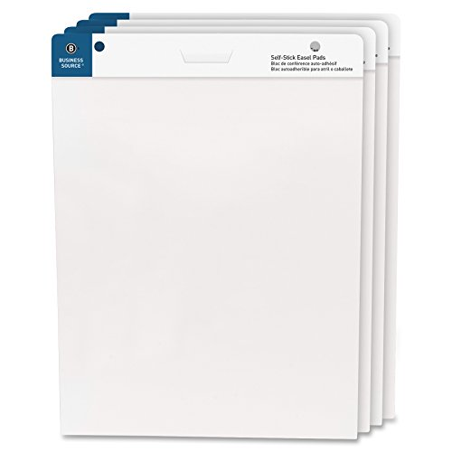 "Business Source 25""x30"" Self-Stick Easel Pads, 4/Pack (38592)"