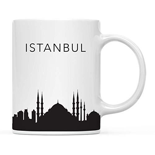 Tourist Travel Souvenir Kaffeetasse Geschenk, Istanbul Türkei Skyline, Weihnachten Geburtstag Einzug Studie Abland Abschluss Bon Voyage, inklusive Geschenkbox 425 ml