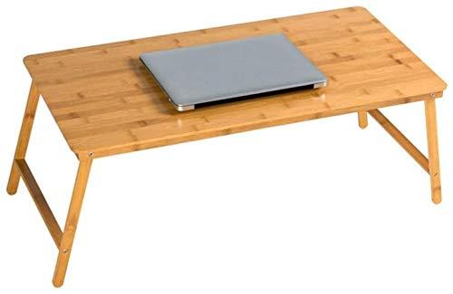 Faltbaren Laptop-Standplatz for Schreibtisch-Multifunktions Tragbare Startseite Bett, Sofa, Tisch College Students Dorm Room Erfahren Bambus Bett Computertisch