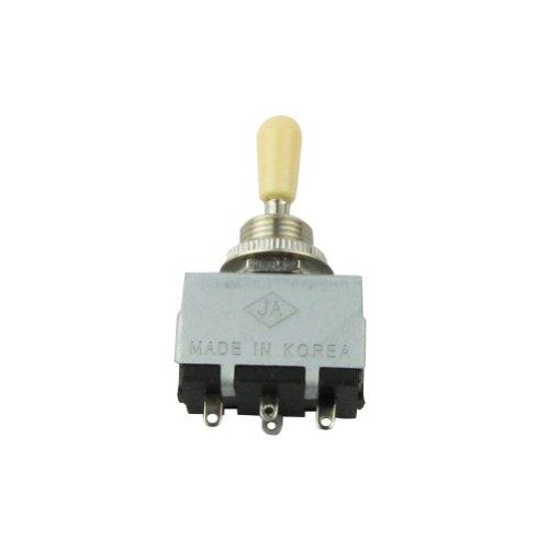 Musiclily Métrica Interruptor Selector de Pastillas de 3 Posiciones para Guitarras, Botón Crema