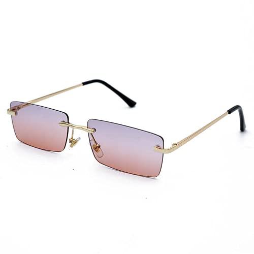 Qtlsgh Caja Cuadrada Retra Caja Cuadrada Gafas de Sol de Personalidad Tinta Marina Cuadrada