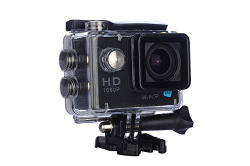 NK Dive Cámara Deportiva subacuática 1080p (Alta Definición), Carcasa Impermeable, 120º 4G, Pantalla LCD , Sensor GC0309, 700mAh, Color Negro (15 Accesorios Múltiples) (Reacondicionado)