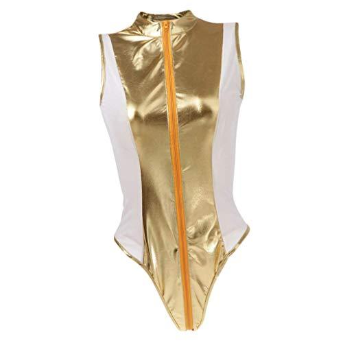 Damskie Spandex One Piece High Cut Stringi Body gimnastyczne Monokini M-4XL