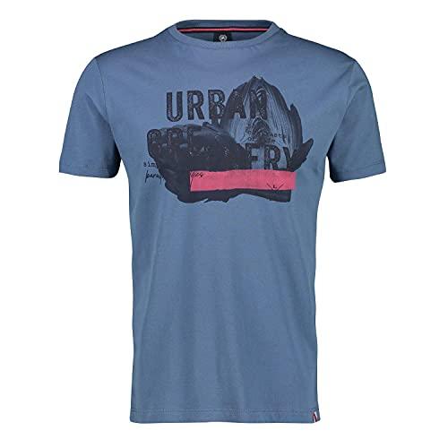 LERROS Herren T-Shirt Serafino 1/2 2133038 blau (XL)