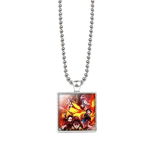 Lecheng Anime Demon Slayer Kimetsu No Yaiba Cosplay collar colgante de disfraz accesorios (estilo 5)