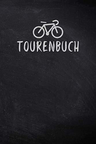 Tourenbuch: Fahrrad Tourenbuch: Sorgfältig gestalteter Notizbuch für schnelle, individuelle Einträge von Radtouren und Informationen zu deiner Strecke. Der handliche Begleiter für den Fahrrad Ausflug.