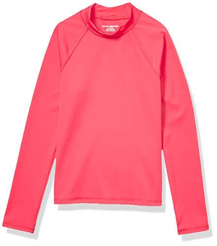 Amazon Essentials UPF 50+ Toddler Girl's Long-Sleeve Rashguard, Pink, 4T