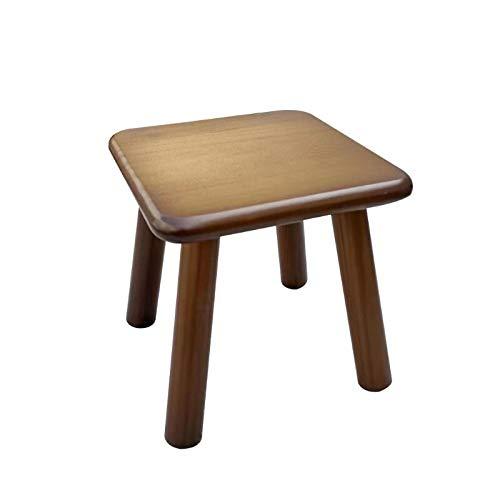 LIXUDECO Taburete pequeño de madera maciza para cambio de zapatos, mesa de té, creativo para niños, taburete L5YE (color: WN 1)