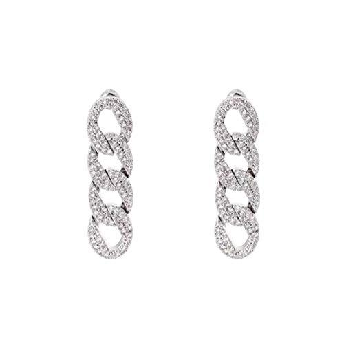 Pendientes Brillantes Diamantes, Pendientes Cadena Geométrica, Pendientes Circón, Moda Regalos Lujo Para Mujeres Para Mujeres Niñas Banquete Nupcial