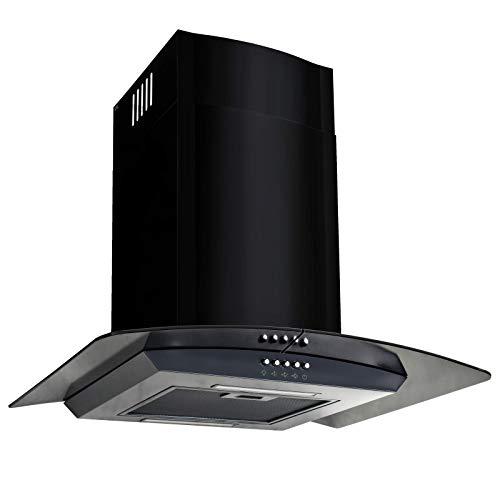 vidaXL Campana Extractora Pared 60cm Negro Electrodoméstico Ventilador Cocina