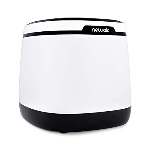 NewAir Portable Ice Maker 50 lb. Daily, Countertop Modern Design, Bullet Shaped Ice, AI-250W, Black & White