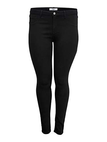 ONLY Carmakoma Female Skinny Fit Jeans Curvy CARThunder Push up reg 46Black
