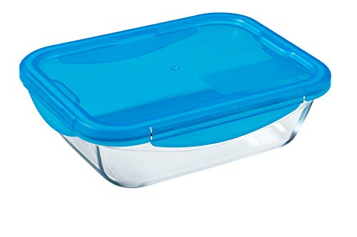 Pyrex Cook&GO Food Storage Containers, Tuppers, Borosilicate Glass, Transparent