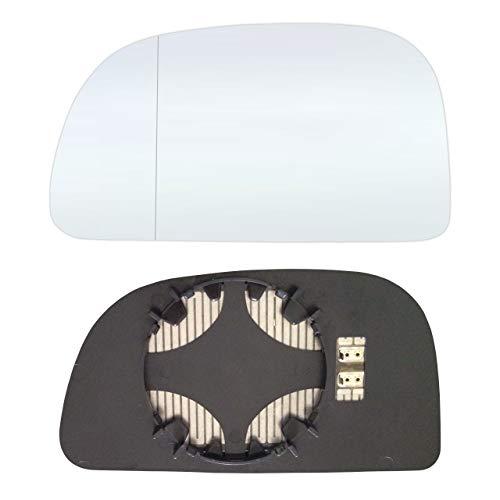 Links Fahrerseite Asphärish Spiegelglas mit Platte und Heizung #AM-MISS98-LWAH