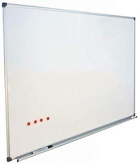 Vivol Tableau blanc Magnétique Émaillé 100x150 cm panneau blanc Cadre en aluminium | Tableau magnétique avec étagère à cra...