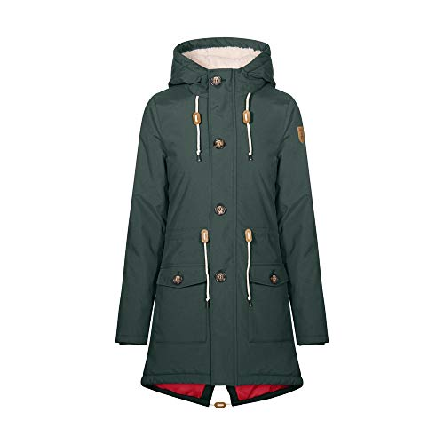 derbe Festland Friese Winter Winterjacke Damen, Dunkelgrün, 42