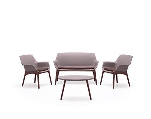 BICA Luxor Lounge Set Taupe/Marrone Ensemble de Jardin, Résine Plastique