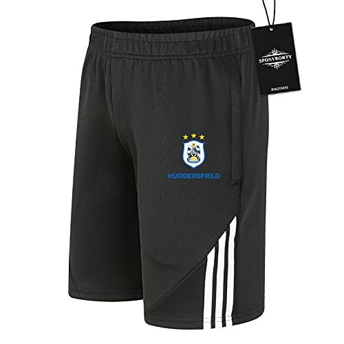 JesUsAvila de Los Hombres Sudor Corto Verano Hūdděrsfiěld Pantalones Cortos Algodón Corto Baloncesto Trotar Traje Causal/Negro/XL