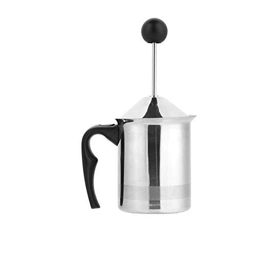 Dongbin Milchaufschäumer, Biuzi Double Mesh Eingebauter Spring Manual Foam Maker Für Kaffee, Heiße Pralinen, Latte, Cappuccino, Elektrische Milchwärmer, Silent Operation,400ml
