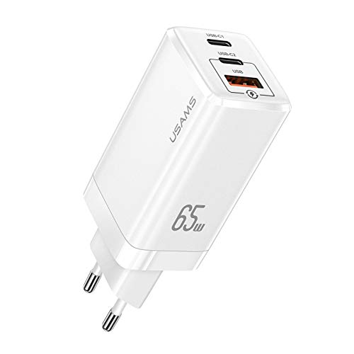 YOUSAMS USB C Ladegerät, 65W 3-Port Schnellladegerät mit GaN Power Tech für MacBook Pro/Air, Surface, iPad, iPhone, Samsung, Xiaomi, Huawei, Nintendo Switch, USB C-Laptops und mehr