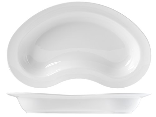 H&H Table Hotelware Plat Ovale, 46, Porcelaine, Blanc, 26 x 6 x 46 cm