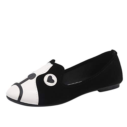 Damen Mokassin Bootsschuhe Leder Loafers Fahren Flache Schuhe Halbschuhe Tierdruck Slippers...
