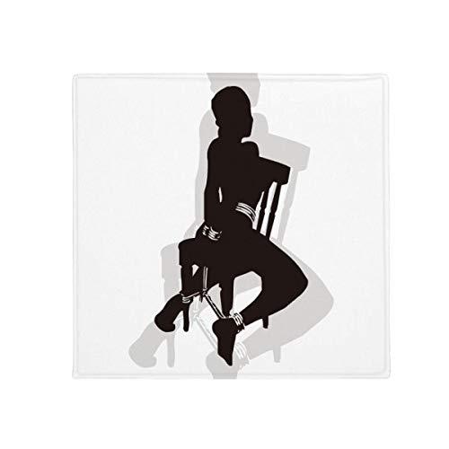 DIYthinker, Fußmatte mit SM-Motiv einer schönen Frau, für Haustier, Küche, Wohnung, Tür, rutschfest, quadratisch, 80 cm