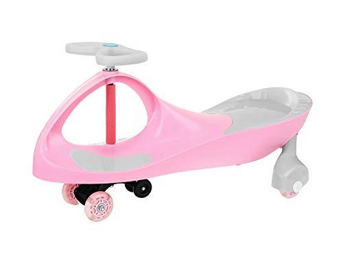Rutscherauto Rutschfahrzeug Kinder Dreirad Roller Lenker Kids Swing Car Rosa/Blau 9167, Farbe:Rosa