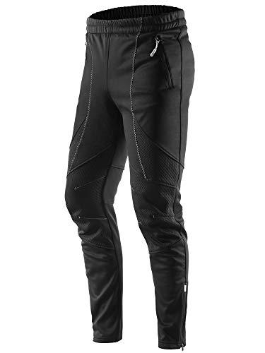 Letook Pantaloni da Ciclismo Lunghi Invernali Antivento Termici Impermeabile per Outdoor Sports Uomo Abbigliamento Inverno da Bici MTB 100231 XL