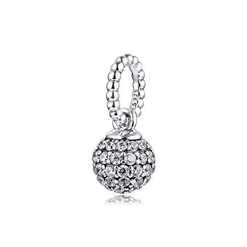 Misura i braccialetti originali Pandora fai da te in argento sterling 925 pavimenta la sfera del braccialetto di fascini dei branelli di fascino per i monili che fanno il branello Kralen Berloques
