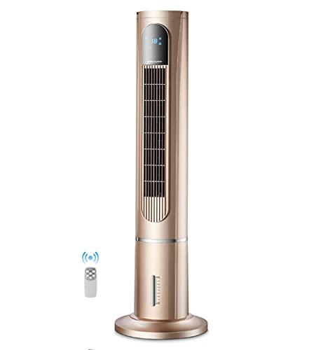 """Ventilador de torre de 47 """"Refrigeración doble Humidificación Purificación Ventilador de piso Oscilación de 80 ° con control remoto Pantalla LED 9 modos Hasta 8h Temporizador Ventilador deenfriamiento"""