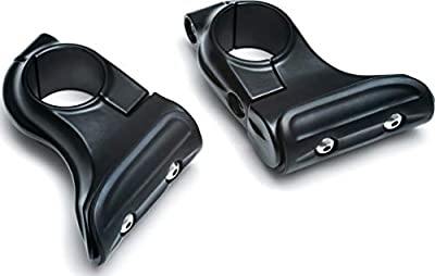 """Kuryakyn 7633 Motorcycle Accessory: Universal Toe Rest Cruise Pegs for Motorcycles with 1-1/4"""" Round Engine Guards, Satin Black, 1 Pair"""