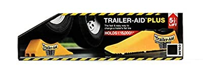 """Trailer-Aid """"Plus"""" Tandem Tire Changing Ramp, The Fast and Easy Way To Change A Trailer's Flat Tire, Holds Upto 15,000 Pounds, 5.5 Inch Lift (Black) (24)"""