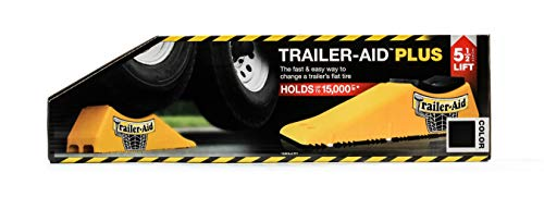Trailer-Aid 'Plus' Tandem Tire Changing Ramp, The Fast and Easy Way To Change A Trailer's Flat Tire, Holds Upto 15,000 Pounds, 5.5 Inch Lift (Black) (24)