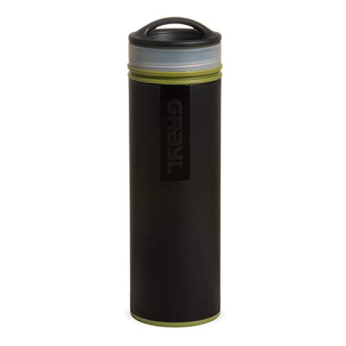 GRAYL Ultralight Water Purifier [+ Filter] Bottle (Camo Black)