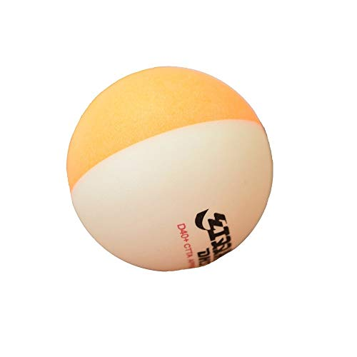 KMDSM Zweifarbiges Tischtennis, Top 40+, Beständig gegen zweifarbiges Tischtennis, Gelb und Weiß 10 / Karton, Training, Unterhaltung
