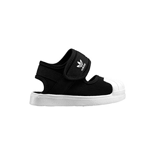 adidas Originals Superst - Sandalias infantiles (talla I), color negro